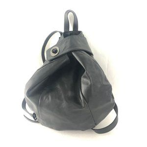 Giannotti Black Leather Backpack Made In Italy